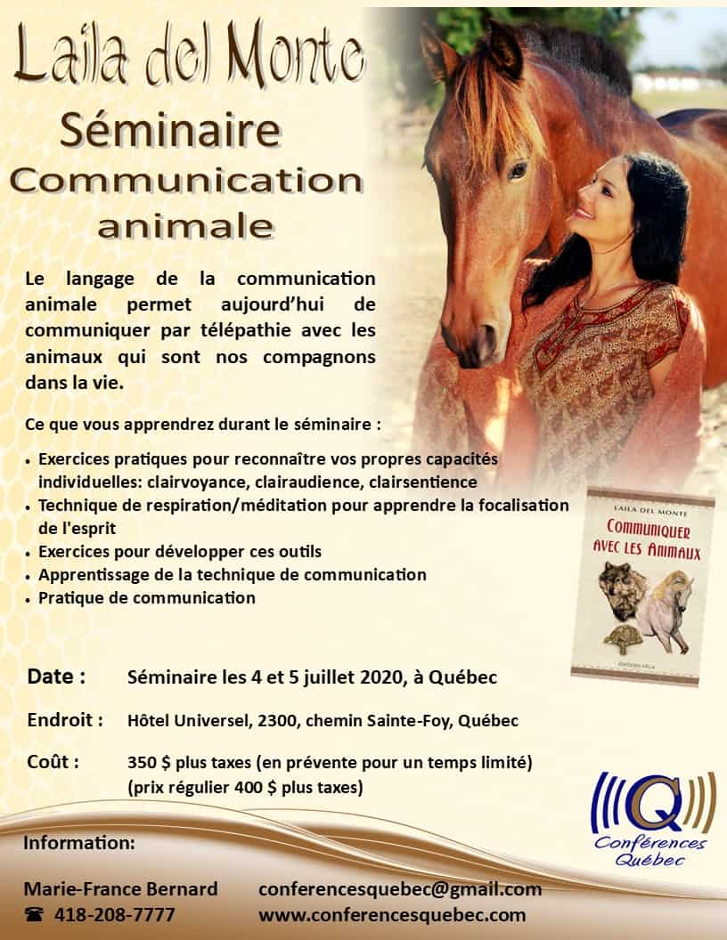 Communication animale avec Laila del Monte