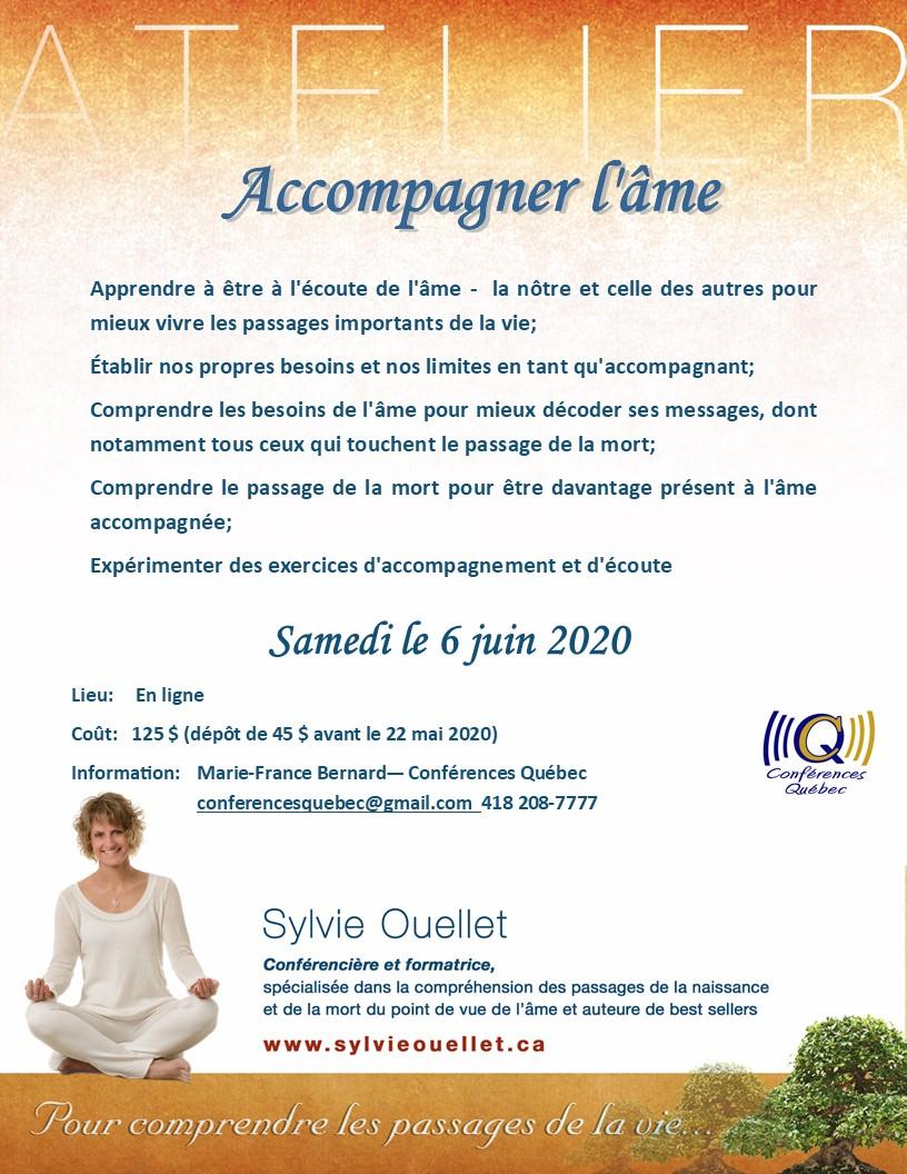 """Sylvie Ouellet """"Accompagner l'âme"""""""
